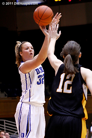 Tricia Liston shows off her fine shooting form  - Duke Tags: #32 Tricia Liston