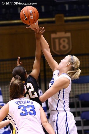 Scheer rejects Brittney Washington (22)  - Duke Tags: #24 Kathleen Scheer 