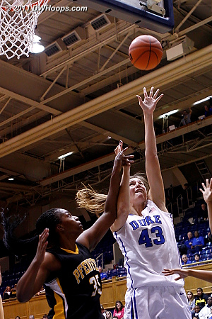 Vernerey battles inside and is fouled  - Duke Tags: #43 Allison Vernerey
