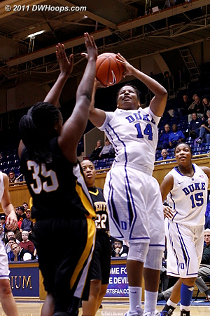 Ka'lia Johnson nets Duke's final basket of the night  - Duke Tags: #14 Ka'lia Johnson 