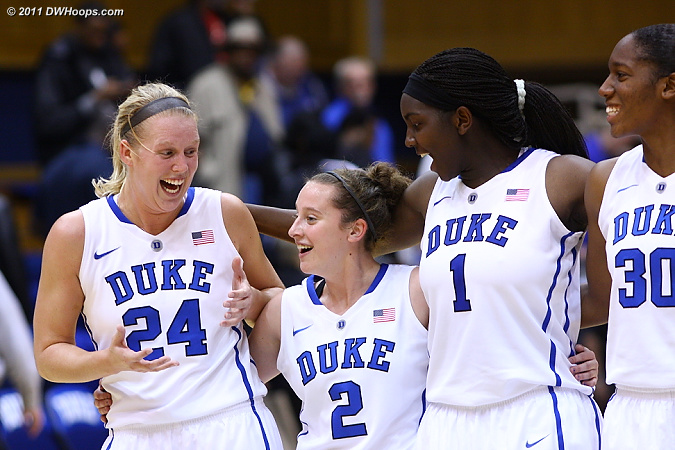Good times in the Dear Old Duke line (Frush wearing #2)