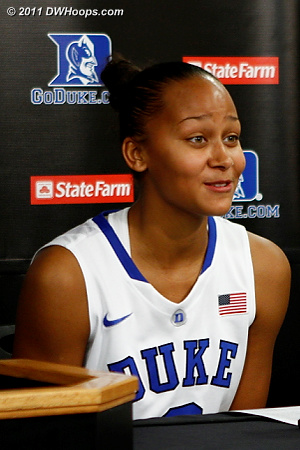 Shay Selby called Elizabeth Williams phenomenal in the presser  - Duke Tags: #3 Shay Selby 