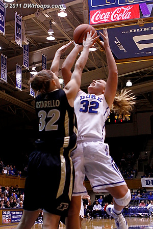 Tricia Liston started the game for Duke  - Duke Tags: #32 Tricia Liston