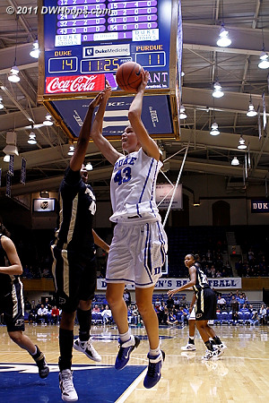 Vernerey was unable to convert this left-handed layup  - Duke Tags: #43 Allison Vernerey