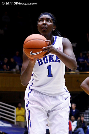 Williams at the stripe, she was a shaky but typical 5-10 tonight  - Duke Tags: #1 Elizabeth Williams