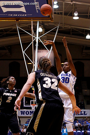 Jump shot by Henson  - Duke Tags: #30 Amber Henson