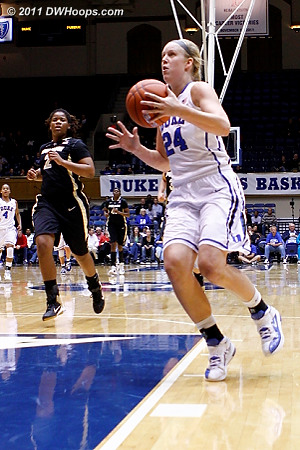 Scheer on a fast break  - Duke Tags: #24 Kathleen Scheer