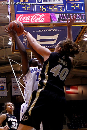 Williams rejected by Jones during a Purdue spurt  - Duke Tags: #1 Elizabeth Williams