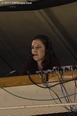 Duke alum Abby Waner in the crow's nest for ESPN3