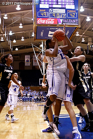Richa works off a screen and is still fouled  - Duke Tags: #15 Richa Jackson