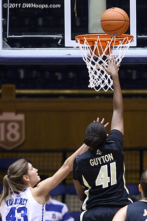 One of the few easy baskets Purdue got in the second half