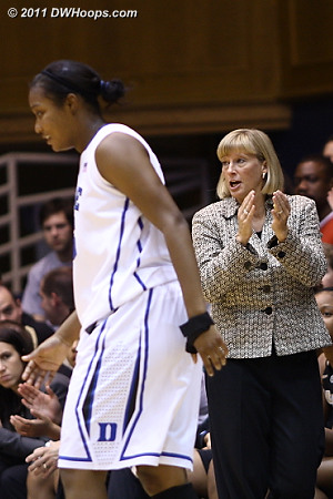 Purdue coach Sharon Versyp applauds a foul called on Richa Jackson