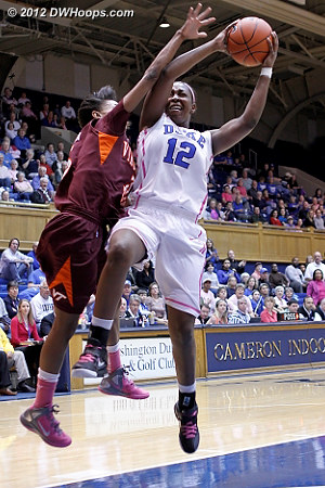 Wilson fouls on the ensuing fast break  - Duke Tags: #12 Chelsea Gray - VT Players: #3 Aerial Wilson