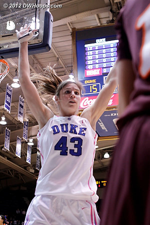 Duke's press started with closely guarding the inbounder  - Duke Tags: #43 Allison Vernerey