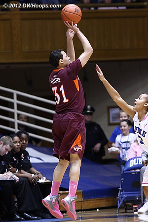 Tech cuts Duke's lead to one  - Duke Tags: #3 Shay Selby - VT Players: #31 Monet Tellier