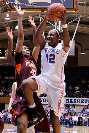 DWHoops Photo  - Duke Tags: #12 Chelsea Gray - VT Players: #43 LaTorri Hines-Allen