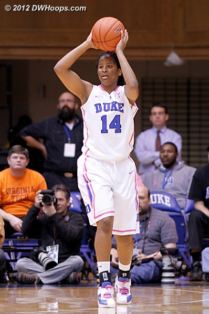 Indecision leads to an unforced travel  - Duke Tags: #14 Ka'lia Johnson