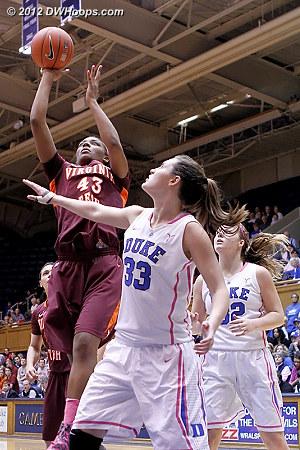 Tech cuts it to ten  - Duke Tags: #33 Haley Peters - VT Players: #43 LaTorri Hines-Allen