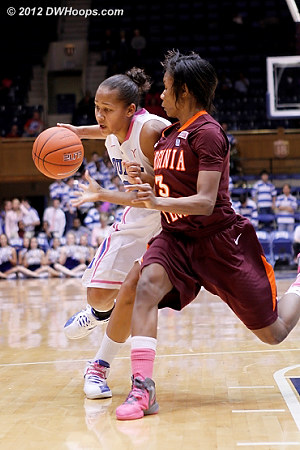 #3 on #3  - Duke Tags: #3 Shay Selby - VT Players: #3 Aerial Wilson