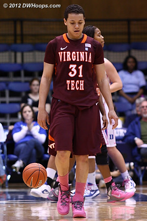 A tough night for Virginia Tech  - VT Players: #31 Monet Tellier