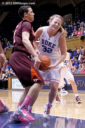 Tellier's fifth, the second of three Hokies to be disqualified  - Duke Tags: #32 Tricia Liston - VT Players: #31 Monet Tellier