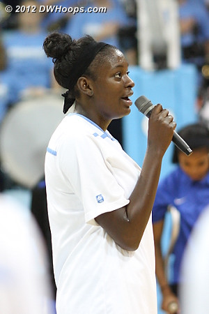 National Anthem  - UNC Players: #32 Waltiea Rolle