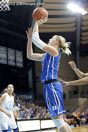 Kathleen Scheer's performance on Senior Night against Miami earned her another start, and she scored Duke's second basket  - Duke Tags: #24 Kathleen Scheer
