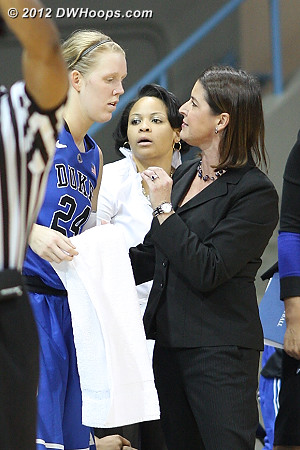 DWHoops Photo  - Duke Tags: Candace Jackson, #24 Kathleen Scheer, Joanne P. McCallie
