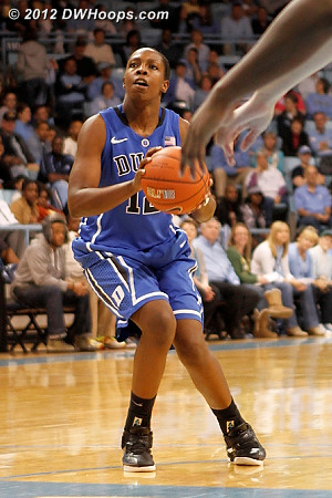 Gray sizes up the situation - she'd make a jump shot to put Duke up 48-35  - Duke Tags: #12 Chelsea Gray