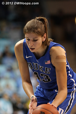 Vernerey would miss both free throws, and Carolina would take note  - Duke Tags: #43 Allison Vernerey