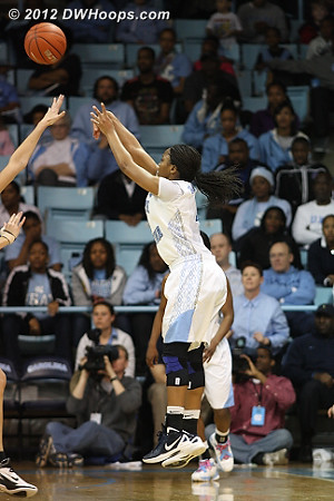 Rountree misses over Vernerey  - UNC Players: #11 Brittany Rountree
