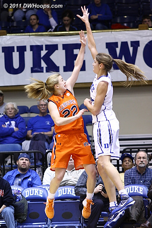 Allison Vernerey was first off the bench, she was very productive in just 11 minutes of play.  - Duke Tags: #43 Allison Vernerey