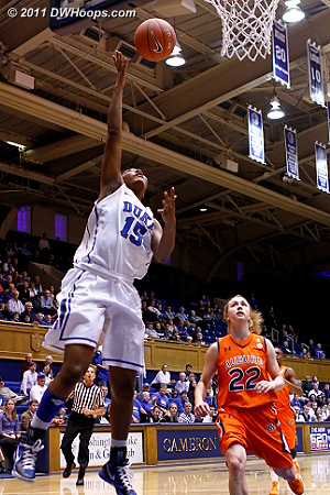 Richa Jackson scores in transition  - Duke Tags: #15 Richa Jackson