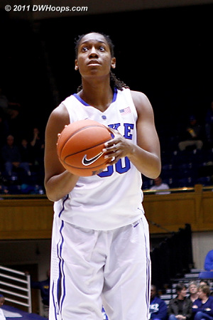 Henson at the stripe  - Duke Tags: #30 Amber Henson