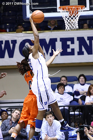 Jackson grabs an offensive board  - Duke Tags: #15 Richa Jackson