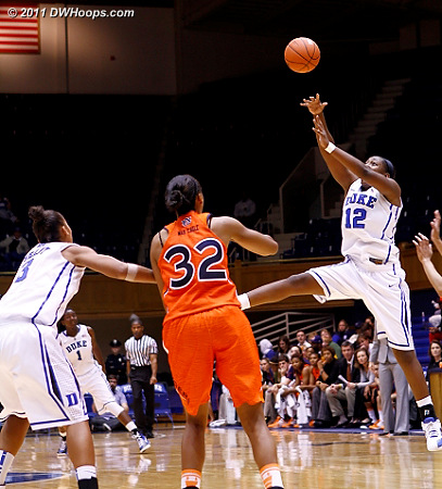 Chelsea Gray a bit out of control here, this was one of five turnovers  - Duke Tags: #12 Chelsea Gray