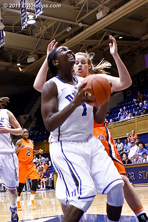Elizabeth Williams has it deep in the paint  - Duke Tags: #1 Elizabeth Williams