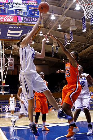 Vernerey scores on the break again as Duke is pulling away  - Duke Tags: #43 Allison Vernerey