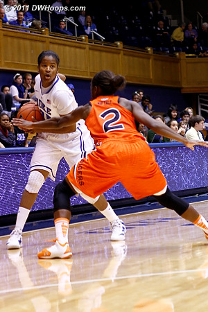 Ka'lia Johnson in the game  - Duke Tags: #14 Ka'lia Johnson