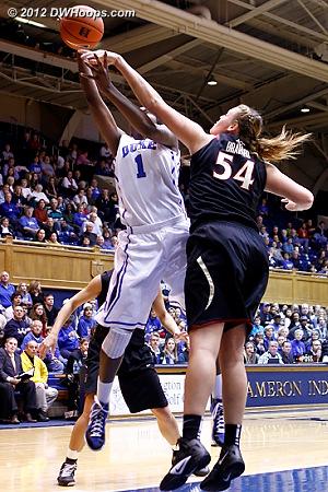 Bravard gets the block  - Duke Tags: #1 Elizabeth Williams