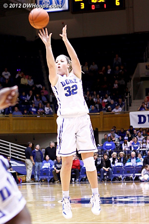 Tricia Liston hits a two point jumper, but FSU still leads 6-5.  - Duke Tags: #32 Tricia Liston