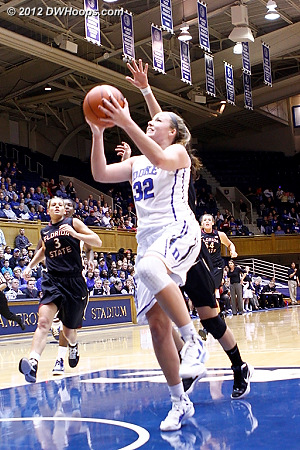 Liston finishes and is fouled  - Duke Tags: #32 Tricia Liston