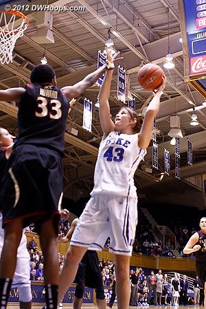 Alli stuck back her miss, 10-8 Duke.  - Duke Tags: #43 Allison Vernerey