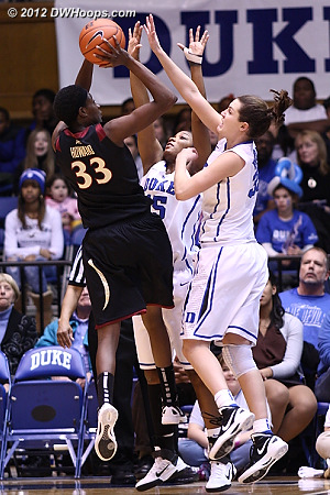 Florida State's Natasha Howard was a top performer in Duke's 73-66 victory over the Seminoles in Durham on January 13th.