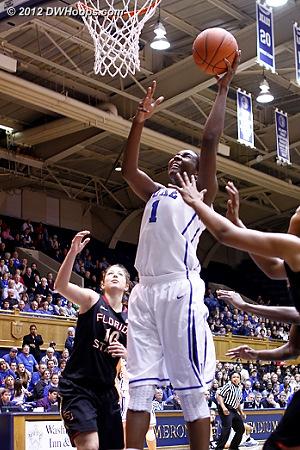 Elizabeth Williams puts Duke up 22-17  - Duke Tags: #1 Elizabeth Williams