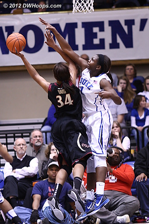Davis well defended by Williams  - Duke Tags: #1 Elizabeth Williams