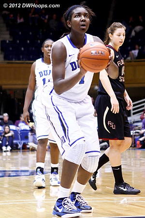 With Duke up by three Williams missed both free throws  - Duke Tags: #1 Elizabeth Williams