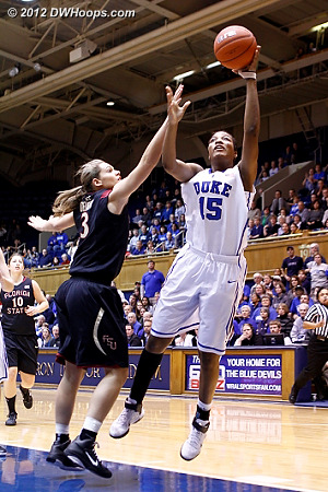 Richa Jackson converts a fast break layup from Haley Peters to put Duke up by six.  FSU gets a 30 second time out.