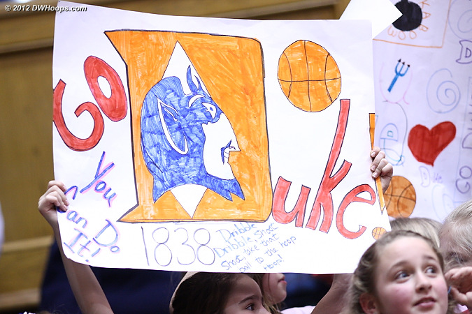 It's nice that most of Duke's home games aren't on weeknights, so that kids can come out and have some fun.  - Duke Tags: Fans