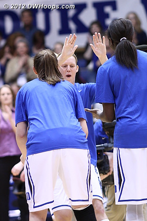 Kathleen Scheer got the start on Senior Day (we'll have more photos later this morning)